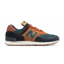 New balance chaussures unisex 576 yard lifestyle marine et orange et teal M576-051