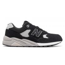 New balance chaussures unisex 580 suede casual noir et gris MRT580-055