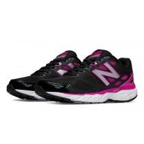 New balance chaussures pour femmes 680v3 running noir et azalea W680-124