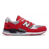 New balance chaussures unisex 530 leather lifestyle rouge et gris et blanc M530-040