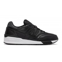 New balance chaussures unisex 597 leather lifestyle noir ML597-056