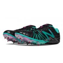 New balance chaussures pour femmes sd100 spike course noir et teal WSD100-175