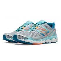 New balance chaussures pour femmes 880v4 course argent et bleu atoll et coral W880-153
