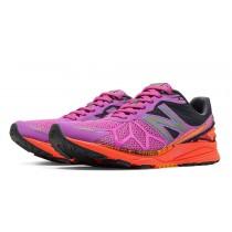 New balance chaussures pour femmes limited edition course rose glo et orange clownfish et gris WPACE-097