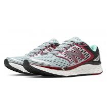 New balance chaussures pour femmes fresh foam 1080 running gris et bourgogne W1080B-074