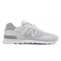 New balance chaussures pour hommes 574 re-engineered lifestyle blanc et argent vison MTL574-046