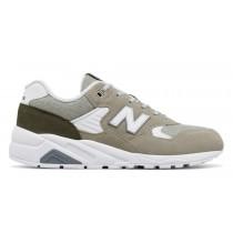 New balance chaussures pour hommes 580 deconstructed lifestyle argent vison et triumph vert MRT580-057