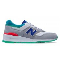New balance chaussures pour hommes 997 lifestyle gris et foncé ozone bleu et vivid bleu M997-084