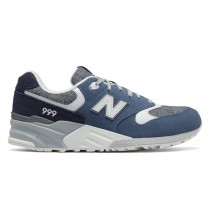 New balance chaussures pour hommes 999 90s classic running pigment et marine ML999-096