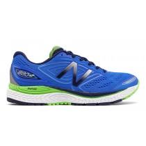 New balance chaussures pour hommes 880v7 course vivid cobalt bleu et pigment et energy lime M880-195