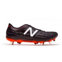 New balance chaussures pour hommes visaro 2.0 k-leather sg football noir et alpha orange MSVRKS-243
