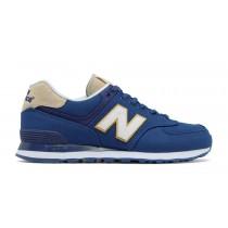 New balance chaussures pour hommes 574 retro lifestyle atlantic et blanc ML574-048