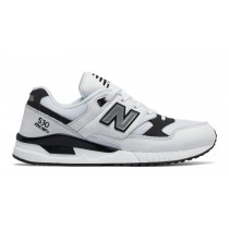 New balance chaussures unisex 530 leather lifestyle blanc et noir M530-039