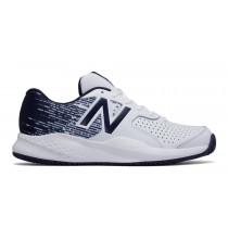 New balance chaussures pour hommes 696v3 tennis blanc et marine MC696-179