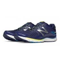 New balance chaussures pour hommes 880v6 running noir et bleu M880-194