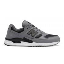 New balance chaussures pour hommes 530 lux leather casual steel et noir M530-036