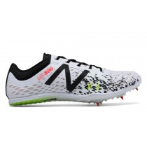 New balance chaussures pour hommes md800v5 spike course blanc et noir MMD800-142
