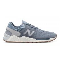 New balance chaussures pour hommes 9 casual bleu pluie et argent vison ML009-002