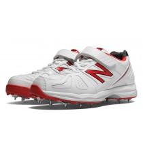 New balance chaussures pour hommes 4040 cricket blanc et rouge CK4040-160