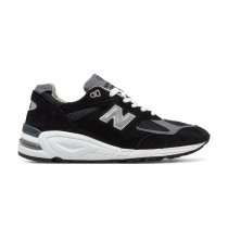 New balance chaussures pour hommes 990v2 casual noir et pewter M990-072