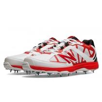 New balance chaussures pour hommes 10 minimus cricket blanc et rouge CK10-146