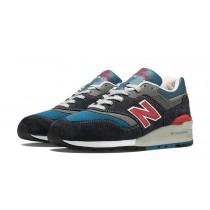 New balance chaussures pour hommes 997 lifestyle flint gris et bleu et rouge M997-083