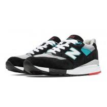 New balance chaussures pour hommes 998 lifestyle noir et gris et bolt M998-094