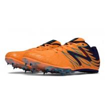 New balance chaussures pour hommes md500v4 spike course orange pop et noir et atlantic bleu MMD500-140