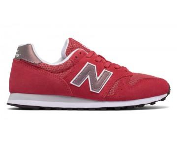 New balance chaussures pour femmes 373 suede lifestyle rouge et rose et d'or WL373-209
