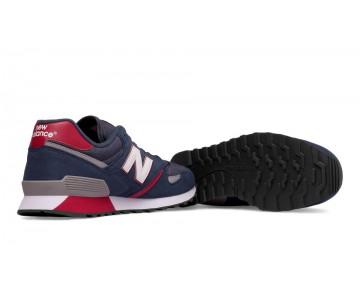 New balance chaussures pour hommes 446 80s running bleu et marine et bourgogne U446-297