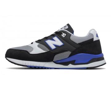 New balance chaussures unisex 530 leather lifestyle noir et blanc et cobalt bleu M530-149