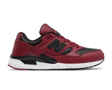 New balance chaussures pour hommes 530 lux leather casual biking rouge et noir M530-301