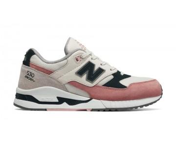 New balance chaussures pour femmes 530 suede lifestyle clay et noir et hot coral W530-230