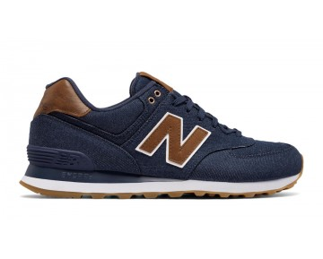 New balance chaussures unisex 574 15 ounce canvas lifestyle marine et marron ML574-150