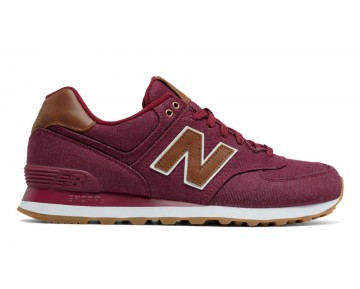 New balance chaussures unisex 574 15 ounce canvas lifestyle beet rouge et marron ML574-152