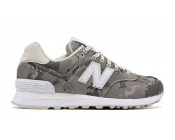 New balance chaussures unisex 574 15 ounce canvas lifestyle powder et blanc et gris ML574-153