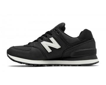 New balance chaussures pour femmes 574 canvas casual noir et angora WL574-233