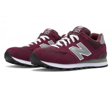 New balance chaussures unisex 574 core lifestyle bourgogne et gris et blanc M574-154