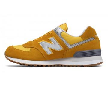 New balance chaussures unisex 574 lifestyle d'oren blaze et jaune et gris ML574-157