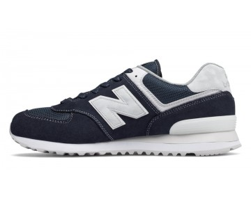 New balance chaussures unisex 574 lifestyle outerspace et blanc ML574-160