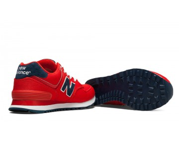 New balance chaussures unisex 574 pique polo pack casual rouge et marine WL574-164