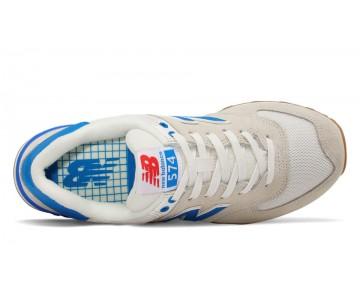 New balance chaussures pour hommes 574 retro lifestyle sea salt et electric bleu WL574-314