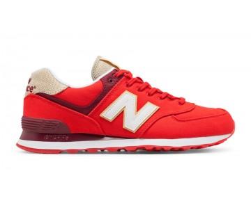 New balance chaussures pour hommes 574 retro lifestyle rouge et blanc ML574-315