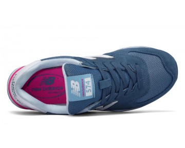 New balance chaussures pour femmes 574 suede lifestyle chambray et blanc et peony WL574-242