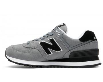 New balance chaussures pour hommes 574 textile lifestyle gunmetal et noir WL574-318