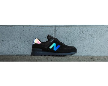New balance chaussures pour hommes 574 urban twilight casual noir et gris ML574-319