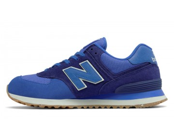 New balance chaussures unisex 574 vintage lifestyle vivid cobalt bleu heather et basin et blanc ML574-166