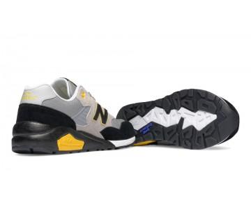 New balance chaussures pour hommes 580 elite edition lumière gris et noir et jaune MRT580-324