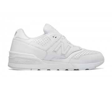 New balance chaussures unisex 597 leather lifestyle blanc ML597-174