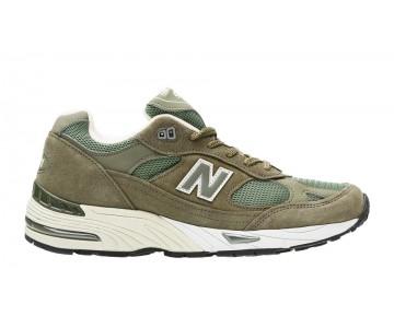 New balance chaussures pour hommes 991 lifestyle poussièrey olive et le riz blanc M991-338